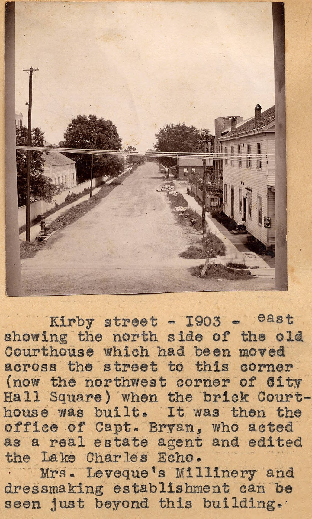 Image of Kirby Street with explanatory note