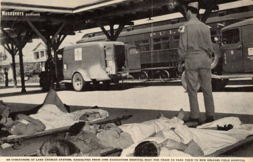 Southern Pacific train station in WWII wounded soldiers