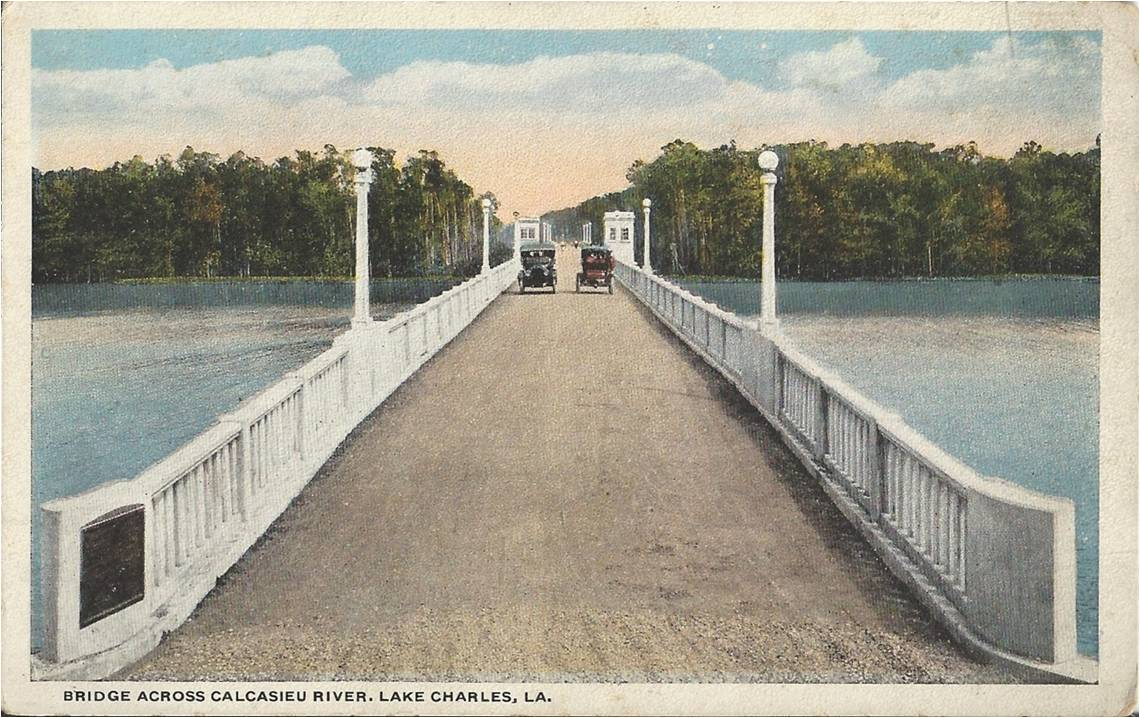 First bridge over the Calcasieu River