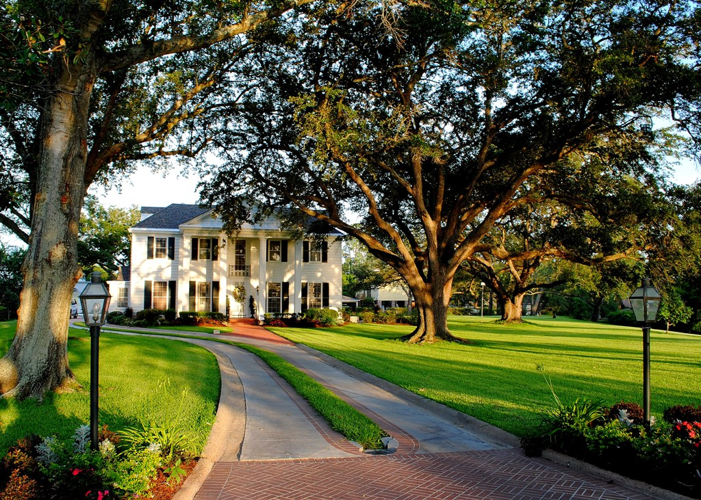 The yard to the side was used for Easter Egg hunts